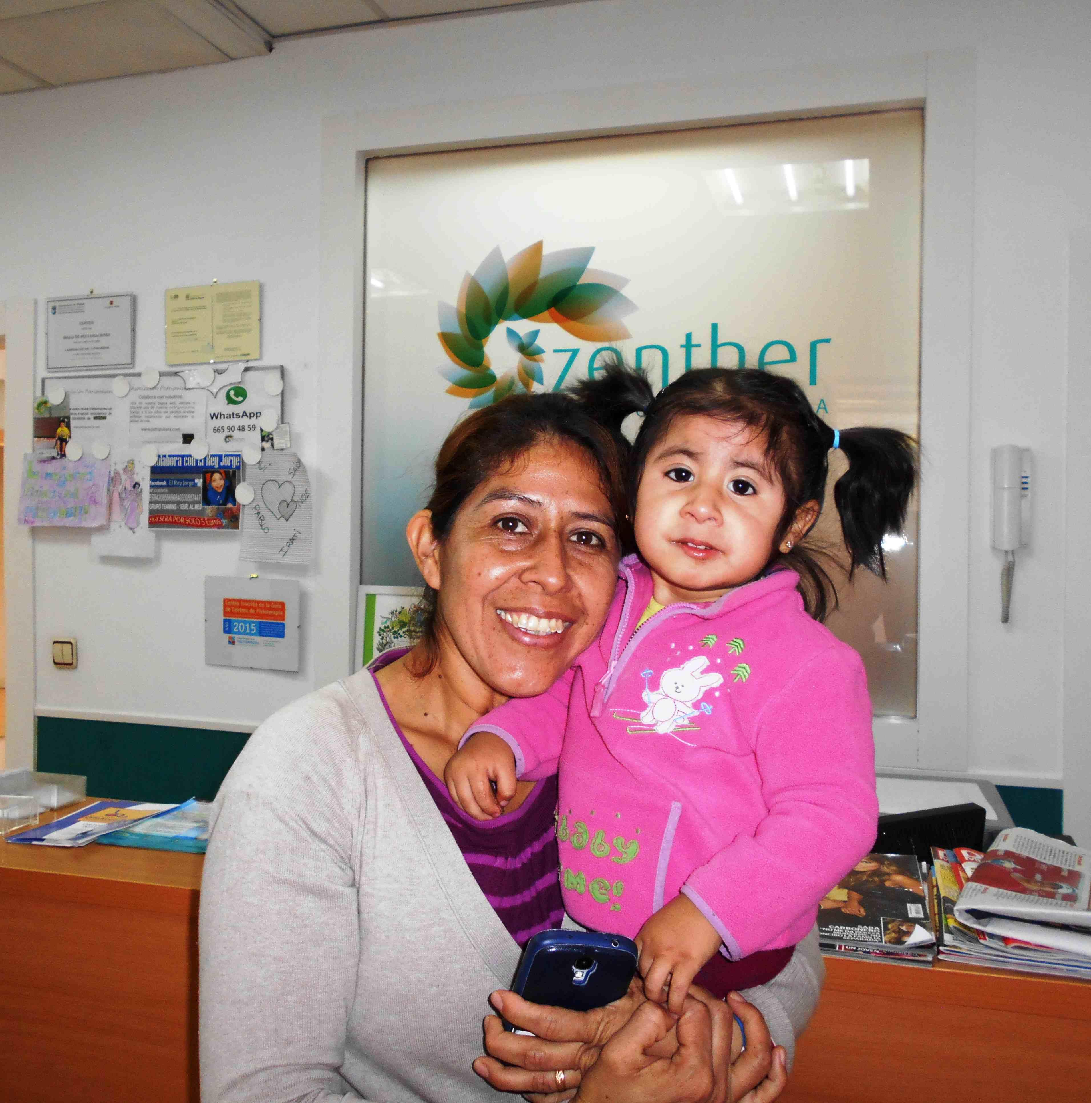 Mei con su madre